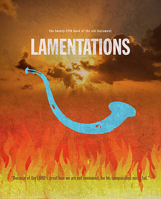 Lamentations Books Of The Bible Series Old Testament Minimal Poster Art Number 25 Print by Design Turnpike