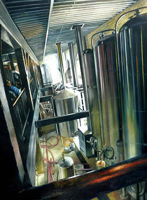 Painting - Lancaster Brewery by Gregg Hinlicky