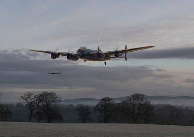 Lancaster - He Aint Heavy He's My Brother' Print by Pat Speirs