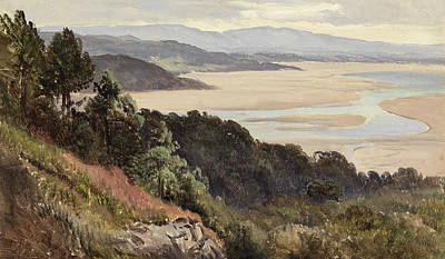 Estuary Painting - Lancaster Sands by Sidney Richard Percy