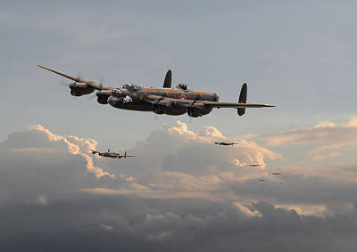 Lancasters - 'maximum Effort' Print by Pat Speirs
