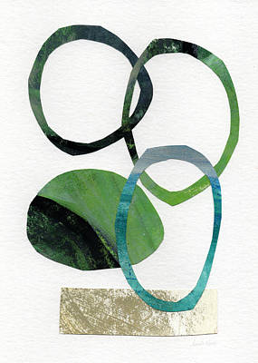 Mixed Media Mixed Media - Land And Sea- Abstract Art by Linda Woods