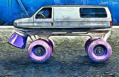 Drive Digital Art - Land Roller - Da by Leonardo Digenio
