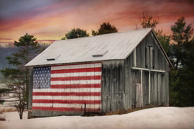 Old Glory Mixed Media - Land That I Love by Lori Deiter