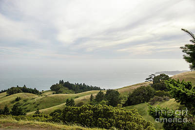 Land's End View Of Bolinas Point Print by Juan Romagosa