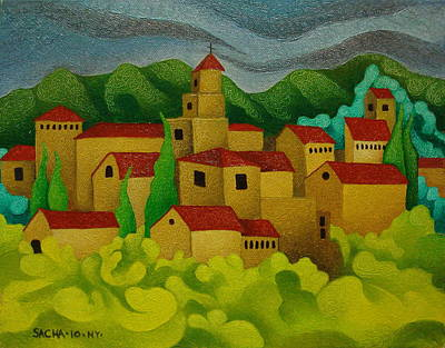 Sacha Painting - Landscape  2010 by S A C H A -  Circulism Technique