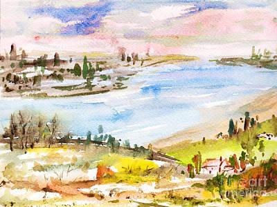 Portrait Painting - Landscape 3 by Xueling Zou