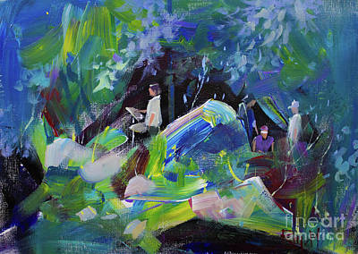 Man Painting - Landscape 4 by Raj Maji