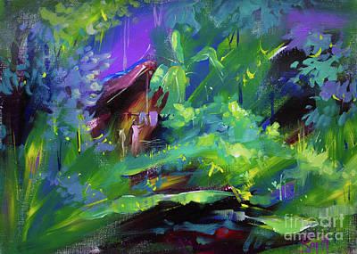 Jungle Painting - Landscape 5 by Raj Maji