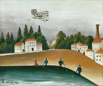 Pseudo Painting - Landscape And Four Fishermen by Henri Rousseau
