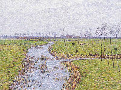Paul Baum Painting - Landscape At Sluis by Paul Baum