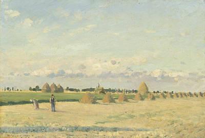 Landscape - Ile-de-france Print by Camille Pissarro