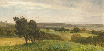 Painting - Landscape In Lower Austria by Albert Zimmermann