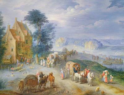 Landscape Print by Joseph van Bredael