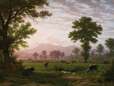 Robert Zuend Painting - Landscape Near Lucerne With View To Mount Rigi by Robert Zuend