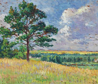 Landscape Near Mereville Print by Maximilien Luce