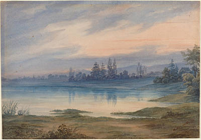 Landscape Near Strasbourg Looking Toward St Gall Print by W Van Detta