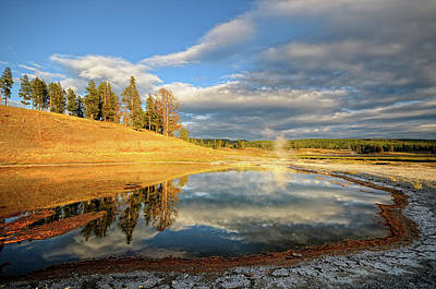Landscape Of Yellowstone Print by Philippe Sainte-Laudy Photography