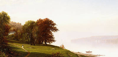 Landscape On The Hudson Print by Alfred Thompson Bricher