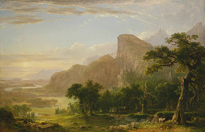 Mountain Goat Painting - Landscape Scene From Thanatopsis by Asher Brown Durand