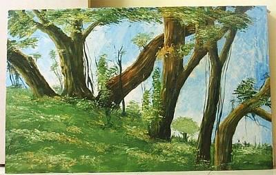 Venkat Painting - Landscape by Venkat Meruvu