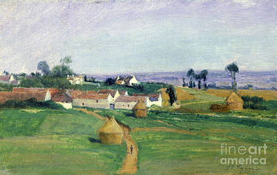 Farm Fields Painting - Landscape by Victor Vignon