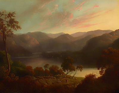 Cumberland River Painting - Landscape View In Cumberland by Mountain Dreams