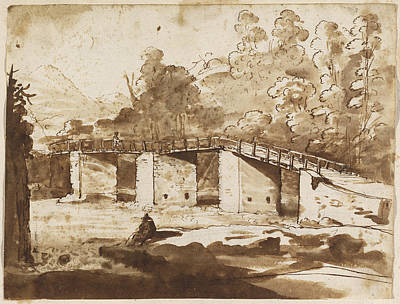 Landscape With A Bridge Print by Claude Lorrain