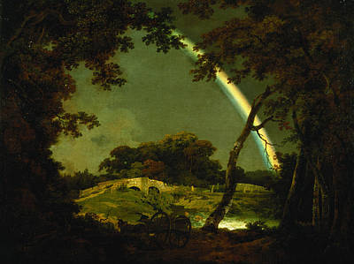 Landscape With A Rainbow Print by Joseph Wright of Derby