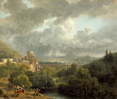Painting - Landscape With An Aqueduct by Nicolas-Antoine Taunay