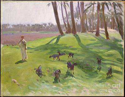 London Painting - Landscape With Goatherd by Celestial Images