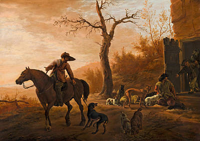 Painting - Landscape With Hunters by Pieter van Laer