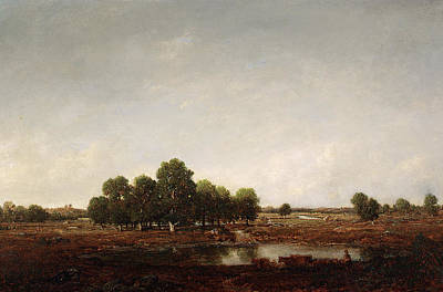 Rousseau Painting - Landscape With Marsh by Theodore Rousseau