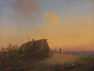 Painting - Landscape With Peasant House by Alexander Andreyevich Ivanov