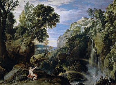 Thunderbolt Painting - Landscape With Psyche And Jupiter by Peter Paul Rubens