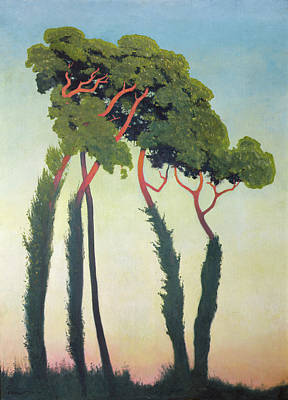 Arbres Painting - Landscape With Trees by Felix Edouard Vallotton