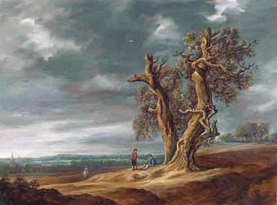 Landscape With Two Oaks After Jan Van Goyen Original by Leonid Polotsky