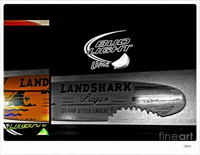 Landshark And Bud Light Print by Steven Digman