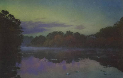 Mcentee Painting - Langwater At Twilight by Bill McEntee
