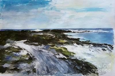 Lanzarote Painting - Lanzarote White Sand Coast by Karina Plachetka
