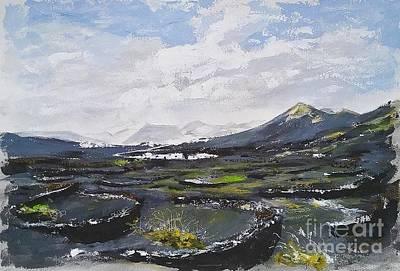Lanzarote Painting - Lanzarote Fields by Karina Plachetka