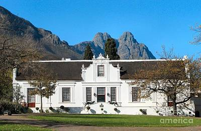Lanzerac Stellenbosch Print by Heather Nel