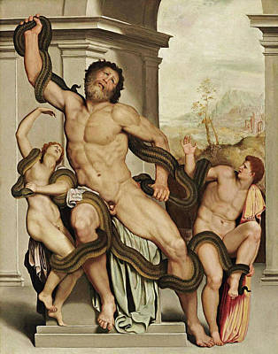Alessandro Allori Painting - Laocoon by Alessandro Allori