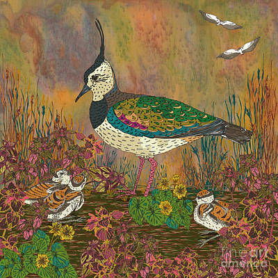 Lapwing Digital Art - Lapwing Revival by Lotti Brown