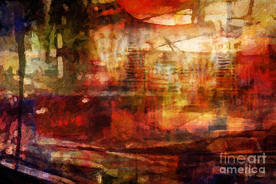 Large Abstract Print by Lutz Baar
