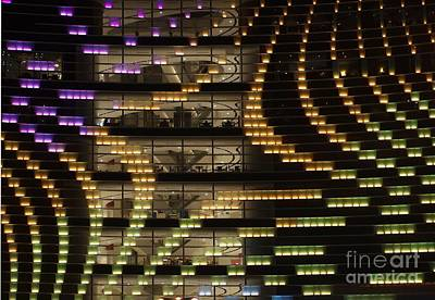 Large Building By Night Print by Yali Shi