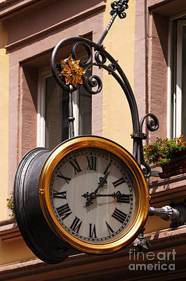 Large Clock Print by Helmut Meyer zur Capellen