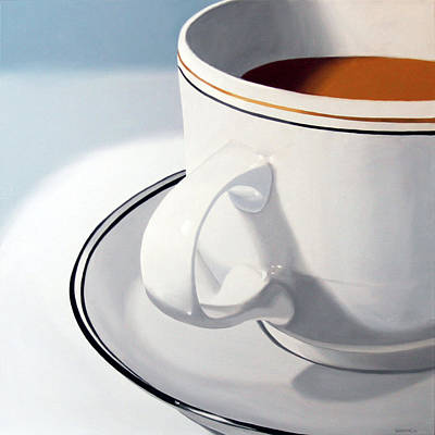 Daily Painter Painting - Large Coffee Cup by Mark Webster