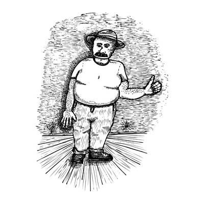 Large Man Print by Karl Addison