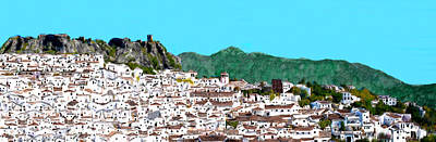 Large Village In Andalucia Print by Bruce Nutting